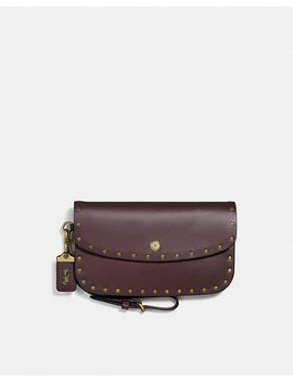 Clutch With Rivets by Coach