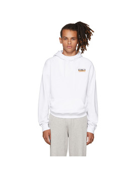 White '100 Percents Pro' Normal Fitted Hoodie by Vetements