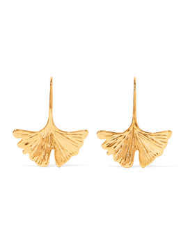 Tangerine Gold Tone Earrings by Aurélie Bidermann