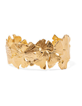 Tangerine Gold Plated Cuff by Aurélie Bidermann