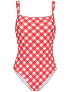 'eliza' Checked One Piece Swimsuit by Reformation