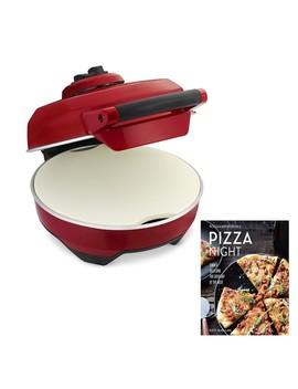 Breville Crispy Crust Pizza Maker With Williams Sonoma Pizza Night Cookbook by Williams   Sonoma