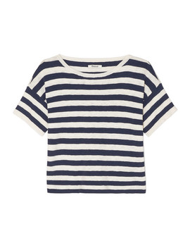 Striped Cotton Blend T Shirt by Madewell