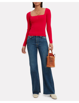 Daria Red Top by Intermix