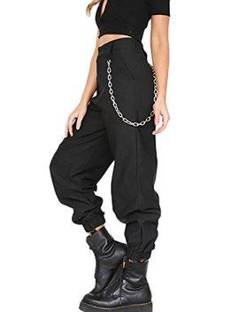 Yacun Damen Im Harem Hosen Pants Hip Hop Jogger Street Hose Mit Kette by Amazon