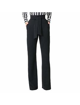 Dihope Damen Klassische Hose Business Stoffhose Elegant Bootcut Hose Anzughose Gerade Hose Freizeithose by Amazon