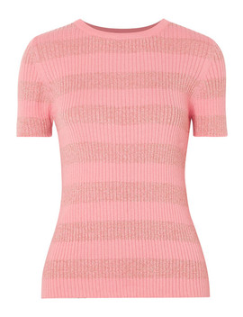 Pablo Striped Ribbed Cotton Blend Top by Stine Goya