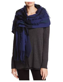 Mega Check Fil Coupe Scarf by Burberry