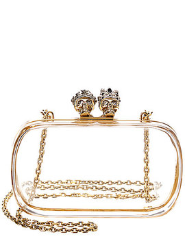Alexander Mc Queen Queen & King Transparent Box Clutch by Alexander Mc Queen