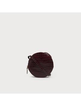 Luna Wine Croc Effect Shoulder Bag by L.K.Bennett