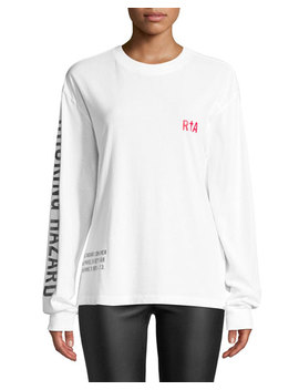 "Cruz ""Not A Toy"" Long Sleeve Cotton Logo Tee by Rt A"
