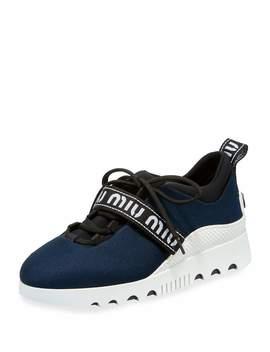 Run Tech Platform Trainer With Logo Strap by Miu Miu