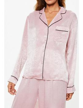 Barbie X Missguided Pink Satin Pajamas Set by Missguided