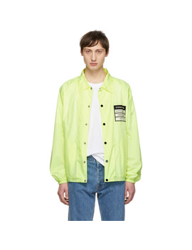 Yellow 'stereotype' Coach Jacket by Maison Margiela