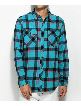 Empyre Sean Teal, Pink & Black Flannel Shirt by Empyre