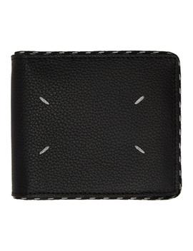 Black Cord Bifold Wallet by Maison Margiela