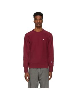 Burgundy Logo Sweatshirt by Champion Reverse Weave