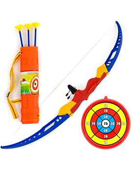 Toysery Kids Archery Bow And Arrow Toy Set With Target Outdoor Garden Fun Game. by Toysery