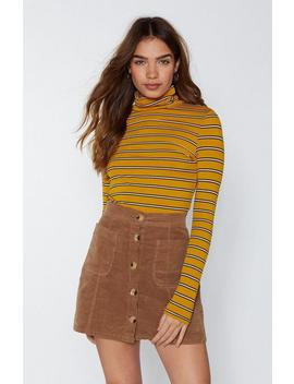 Draw The Line Turtleneck Sweater by Nasty Gal