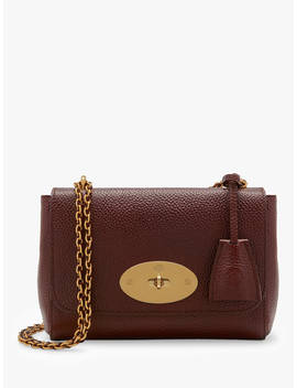 Mulberry Lily Classic Grain Leather Shoulder Bag, Oxblood by Mulberry