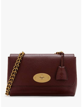 Mulberry Medium Lily Grain Veg Tanned Leather Shoulder Bag, Oxblood by Mulberry