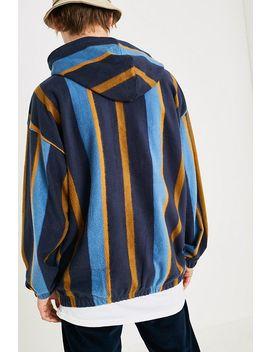 Iets Frans… – Angerauter HoodieIm Streifendesign In Blau by Iets Frans... Shoppen