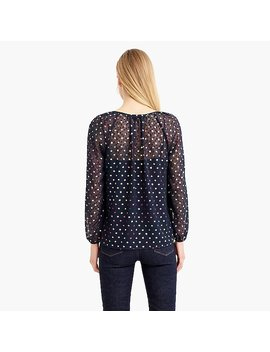 Popover In Rainbow Clip Dot Chiffon by J.Crew