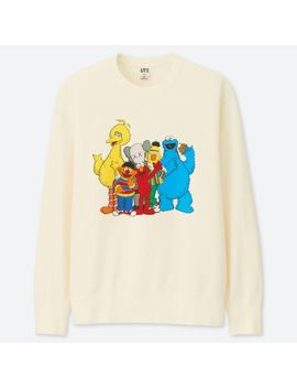 Men Kaws X Sesame Street Sweat Shirt by Uniqlo