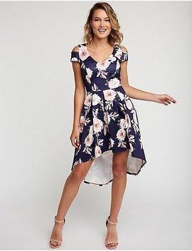 Floral Hi Low Maxi Dress by Charlotte Russe