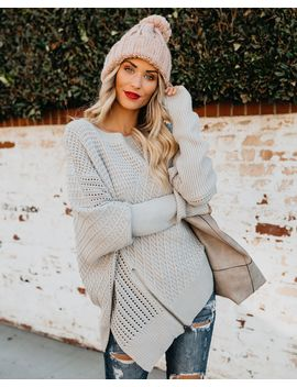 Preorder   Mountain Peak Knit Sweater   Light Grey by Vici