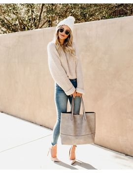 Toasted Marshmallow Knit Sweater by Vici