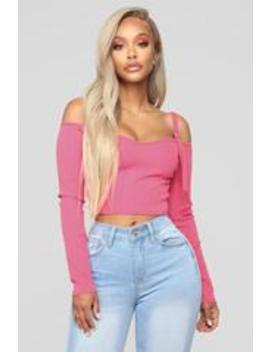 Today's Mood Cold Shoulder Top   Neon Pink by Fashion Nova