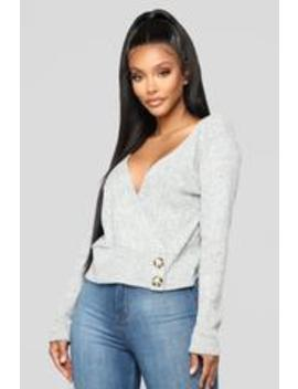 I Wanna Be Down Top   Heather Grey by Fashion Nova