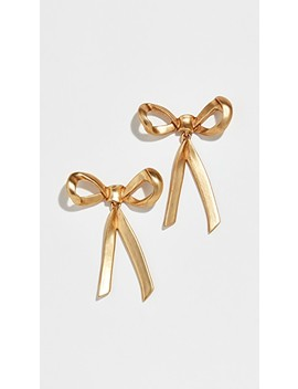 Metal Bow Earrings by Oscar De La Renta