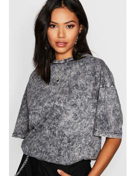 Oversized Acid Wash T Shirt by Boohoo