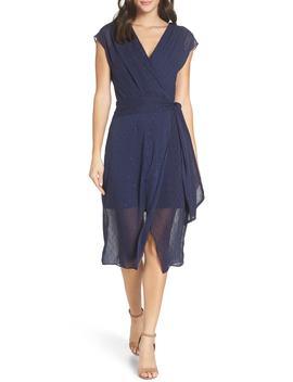 Fil Coupé Wrap Dress by Chelsea28