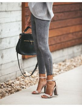 Forever Suede Zip Leggings   Charcoal   Final Sale by Vici