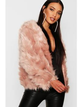 Boutique Faux Fur Panel Coat by Boohoo
