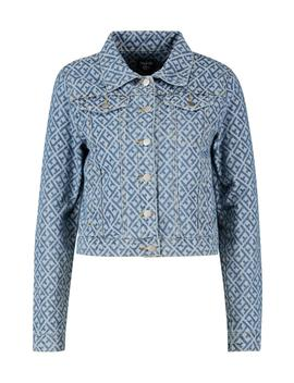 Diamond Pattern Denim Jacket by Boohoo