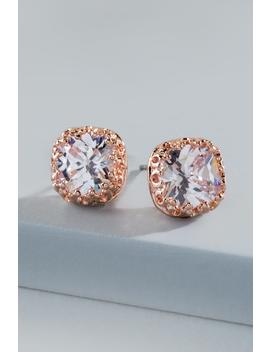 Brinkley Crown Cast Stud Earrings by Francesca's