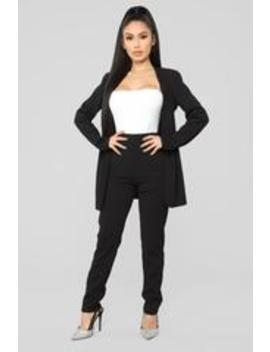 Payin' It Forward Blazer Set   Black by Fashion Nova