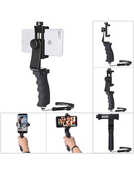 Cell Phone Stabilizer Hand Grip Holder Smartphone Handle Phone Holder Support Selfie Stick Compatible For I Phone Xs Max Xr X 8+ 8 7+ 7 6 S+ 6 S 6+ 6 5 5 Se Galaxy Note 9 S9 Etc Landscape + Portrait Mode by Fantaseal