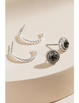 Linda Stud &Amp; Hoop Set by Francesca's