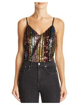 Rainbow Sequined Cropped Camisole   100% Exclusive by Aqua