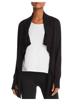 Draped Open Front Cardigan   100 Percents Exclusive by Aqua Athletic