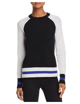 Color Block Raglan Cashmere Sweater   100 Percents Exclusive by Aqua Cashmere