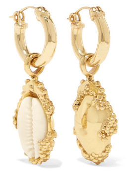 Rosalind Gold Plated, Resin And Shell Earrings by Ellery