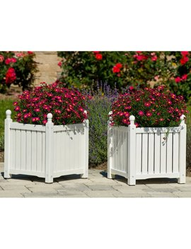 Square Solid Wood Lexington Planter Box   Set Of 2 by Dmc Products