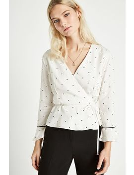 Annalise Mini Heart Print Wrap Top by Jack Wills