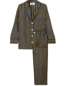 Marina Striped Silk Charmeuse Pajama Set by Sleepy Jones